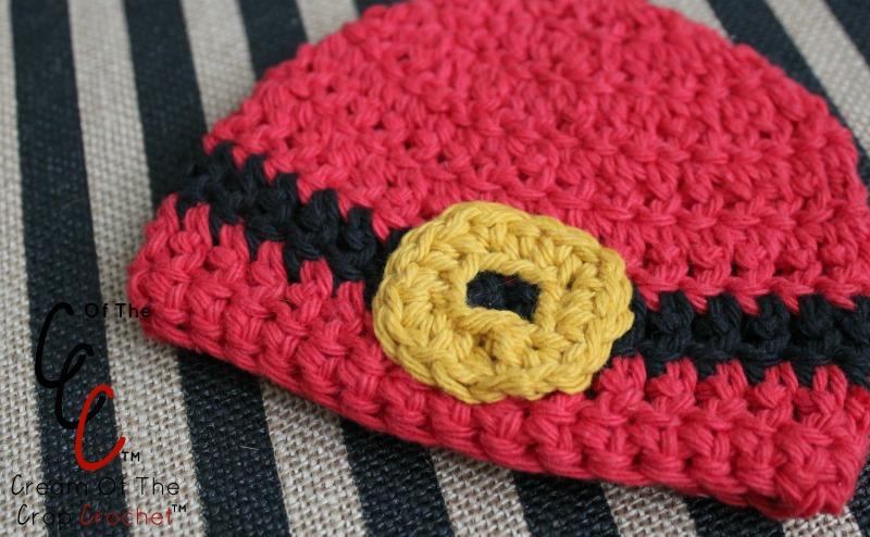 18 Inch Doll Santa Belt Buckle Hat Crochet Pattern Cream Of The