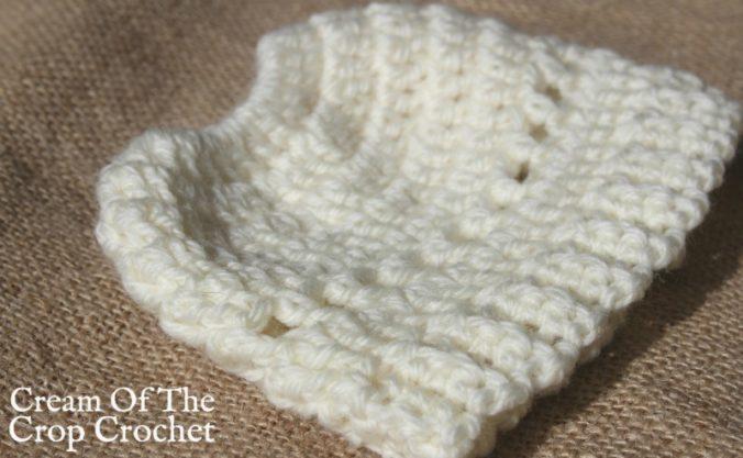 18 Inch Doll Madison Messy Bun Hat Crochet Pattern   Cream Of The Crop Crochet