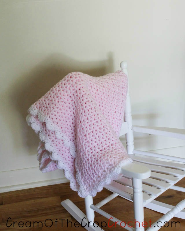Lacy Loves Lace Baby Blanket Crochet Pattern Cream Of The Crop Crochet