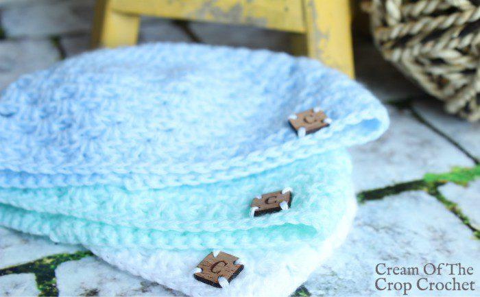 Granny Stitch Newborn Hat Crochet Pattern | Cream Of The Crop Crochet