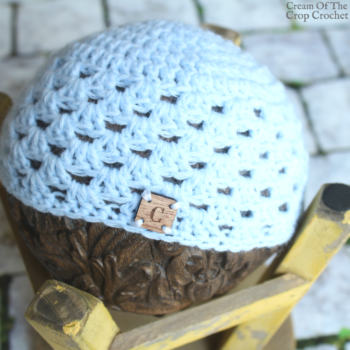 Granny Stitch Newborn Hat Crochet Pattern | Cream Of The Crop Crochet