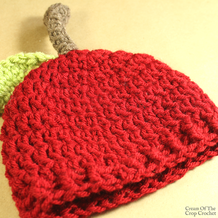 Ann the Apple Hat Crochet Pattern | Cream Of The Crop Crochet