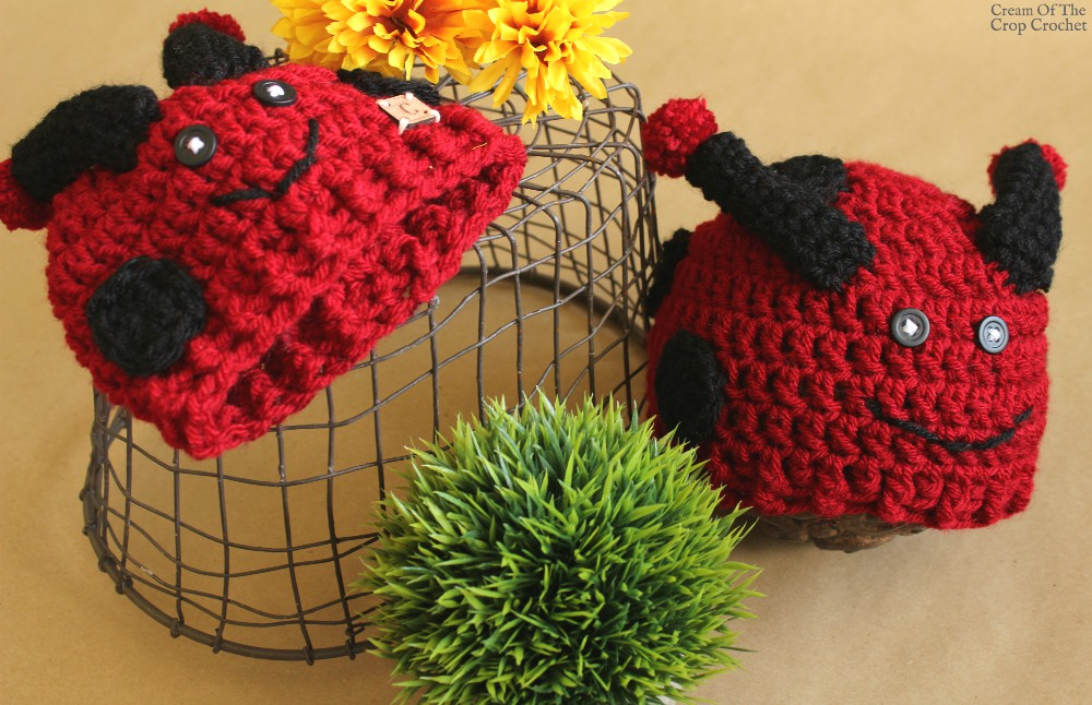 Dot the Ladybug Hat Crochet Pattern | Cream Of The Crop Crochet