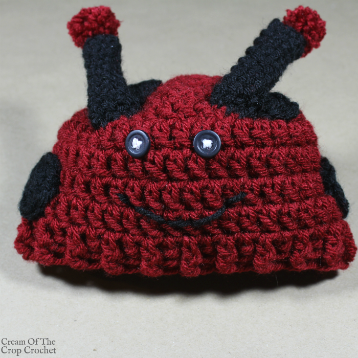 Dot the Ladybug Hat Crochet Pattern | Cream Of The Crop Crochet