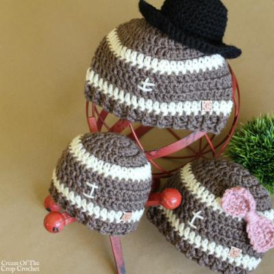 Football Hat Crochet Pattern
