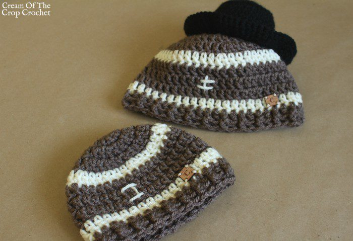 Football Hat Crochet Pattern | Cream Of The Crop Crochet