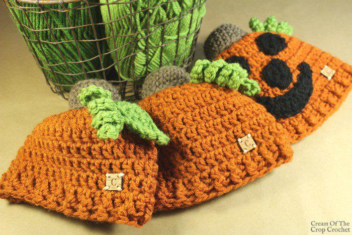 Jack the Pumpkin Hat Crochet Pattern | Cream Of The Crop Crochet