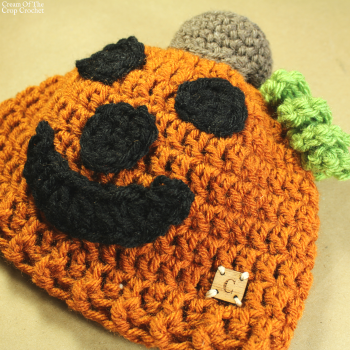 Jack the Pumpkin Hat Crochet Pattern | Cream Of The Crop Crochet