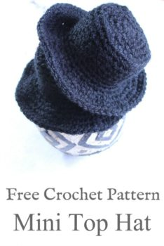 Mini Top Hat Crochet Pattern   Cream Of The Crop Crochet