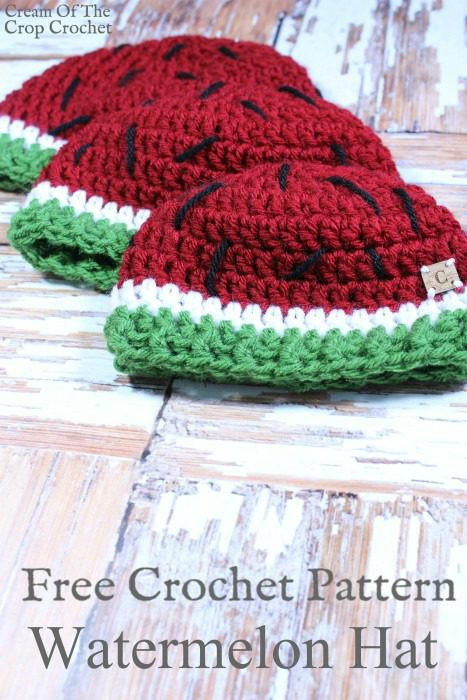 Watermelon Hat Crochet Pattern | Cream Of The Crop Crochet