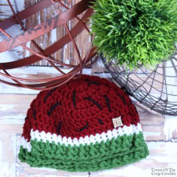 Watermelon Hat Crochet Pattern | Cream Of The Crop Crochet