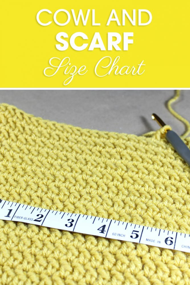 This Cowl and Scarf Size Chart is a great resource to adjust patterns and make your own patterns while making sure they will fit! #CreamOfTheCropCrochet #crochet #crochetsizechart #crochetchart #ilovecrochet #crochetaddict #crocheteveryday