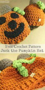 Jack the Pumpkin Hat Crochet Pattern | Cream Of The Crop Crocchet