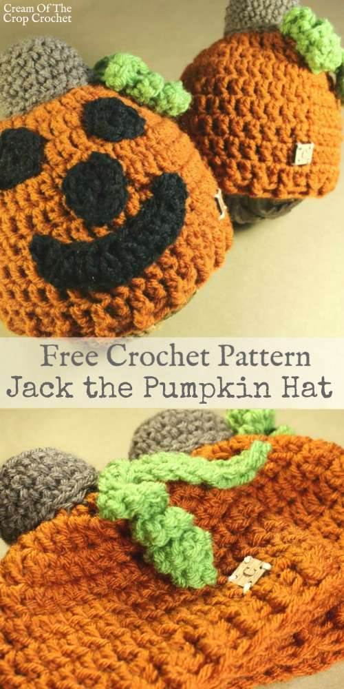Jack the Pumpkin Hat Crochet Pattern | Cream Of The Crop Crocchet