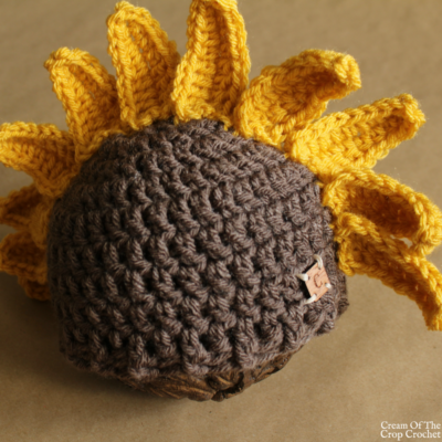 Sadie the Sunflower Hat Crochet Pattern | Cream Of The Crop Crochet