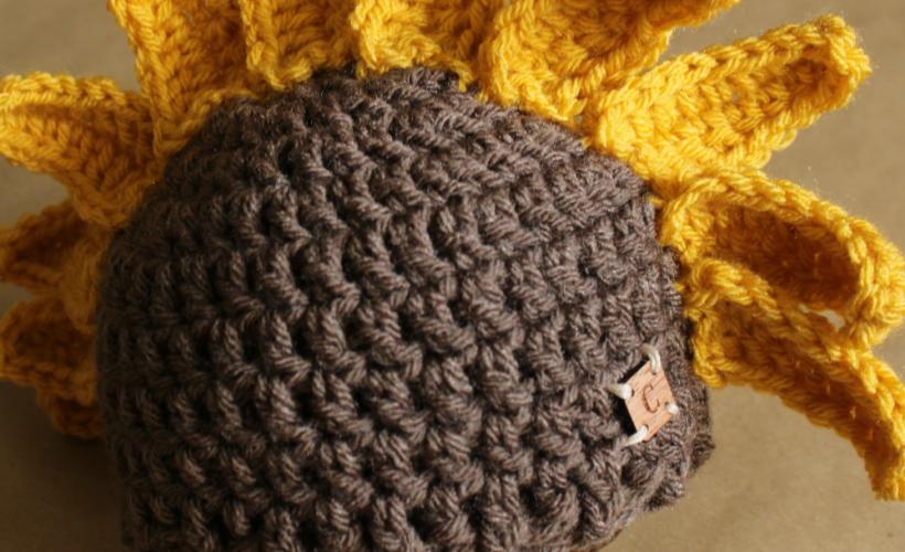 Sadie the Sunflower Hat Crochet Pattern | Cream Of The Crop Crochet