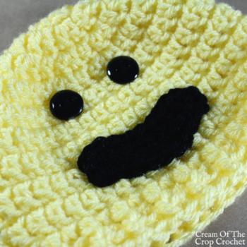 Smile Face Emoji Hat Crochet Pattern | Cream Of The Crop Crochet