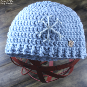 Snowflake Hat Crochet Pattern | Cream Of The Crop Crochet