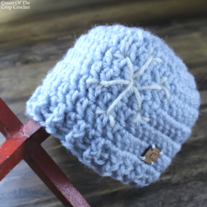 Snowflake Hat Crochet Pattern | Cream Of The Crop Crochet