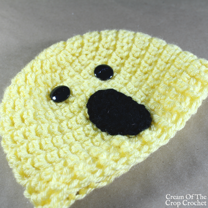 Surprise Face Emoji Hat Crochet Pattern | Cream Of The Crop Crochet