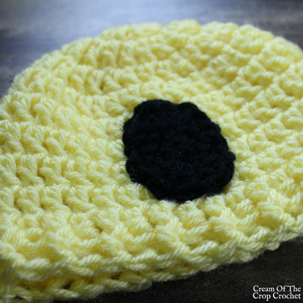 Surprised Face Emoji Hat Crochet Pattern | Cream Of The Crop Crochet