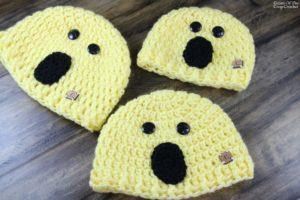 Surprised Face Emoji Hat Crochet Pattern   Cream Of The Crop Crochet