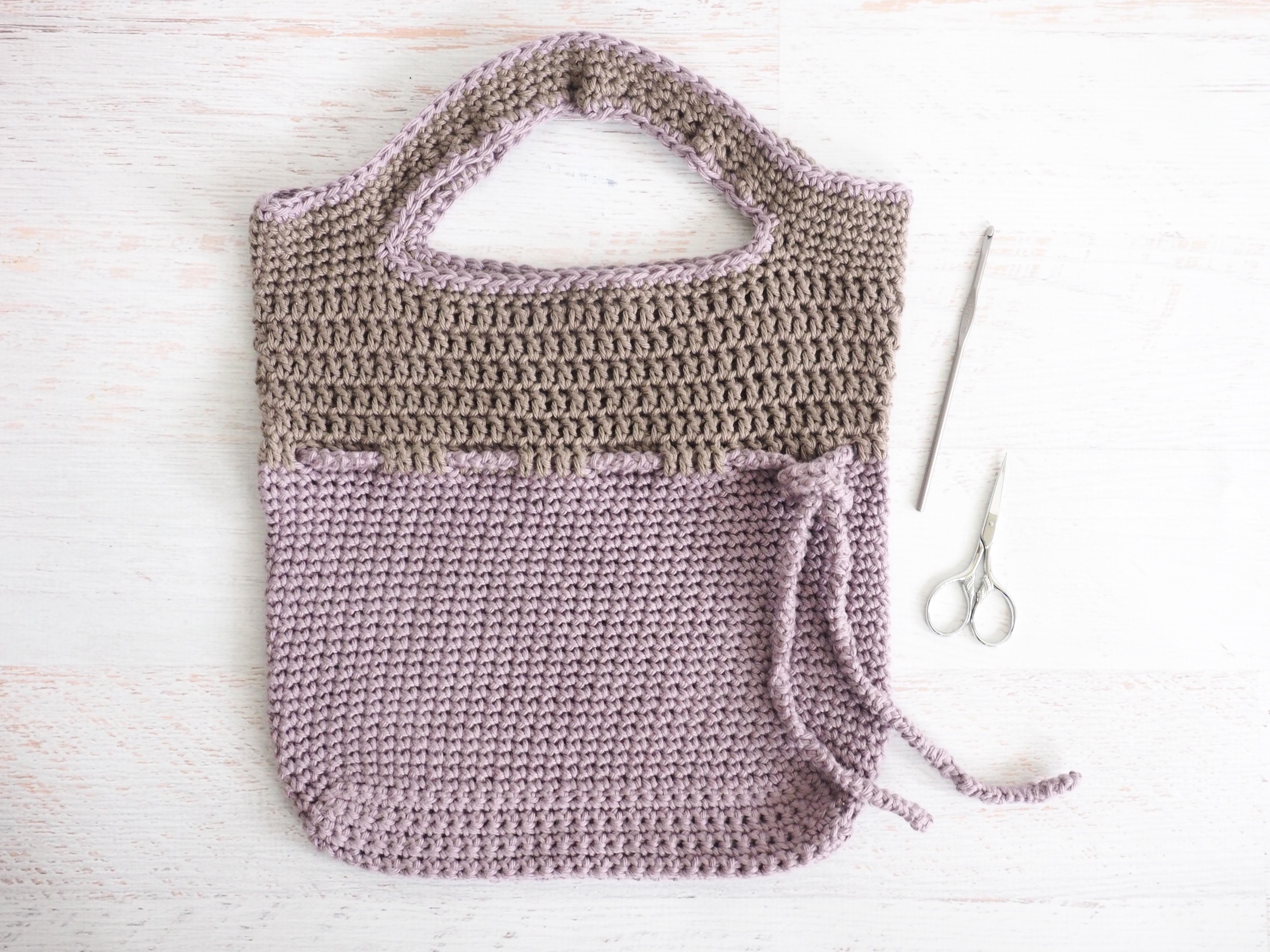 Lilac Roped Bag Crochet Pattern