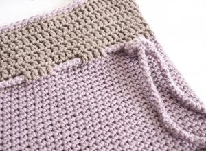 Lilac Roped Bag Crochet Pattern