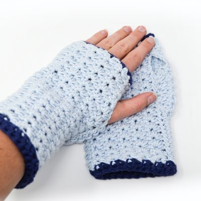 Star Stitch Fingerless Gloves Crochet Pattern