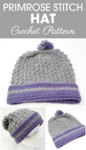 Primrose Stitch Hat Crochet Pattern