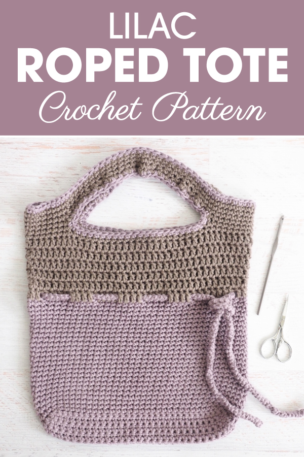 Lilac Roped Bag Crochet Pattern Cream Of The Crop Crochet