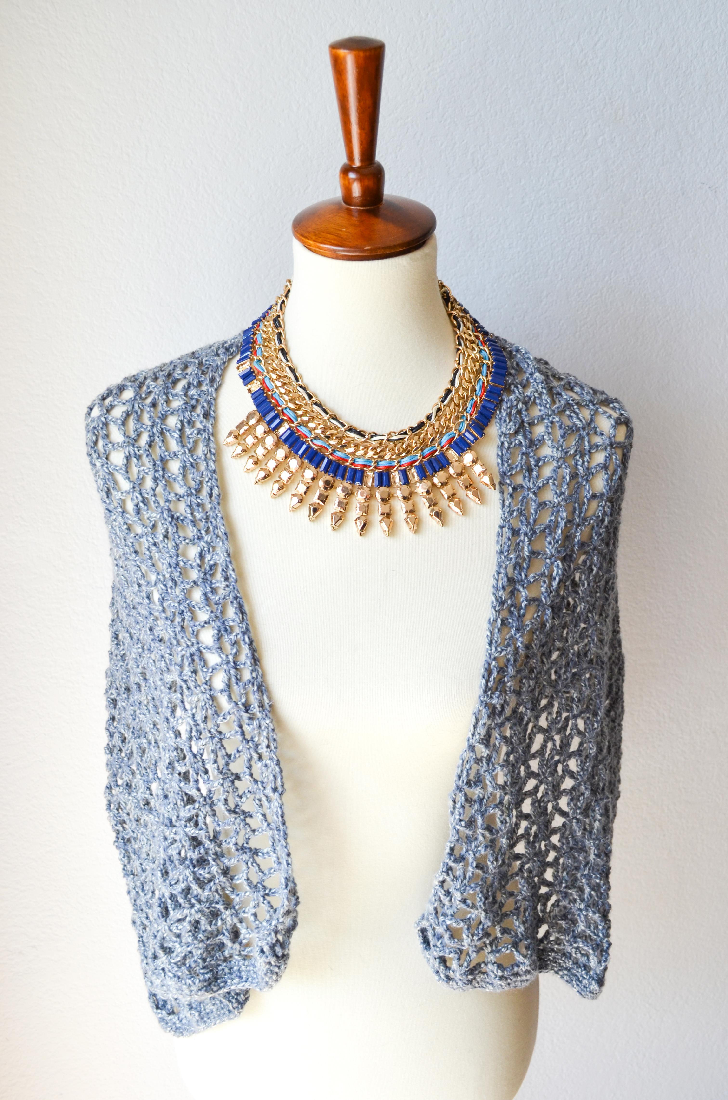 Lace Star Flower Wrap Crochet Pattern