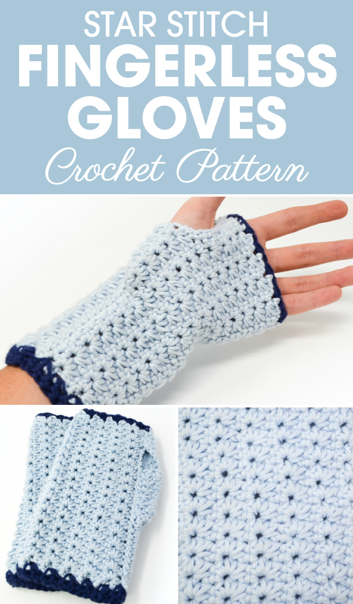Star Stitch Fingerless Gloves Crochet Pattern Cream Of The Crop