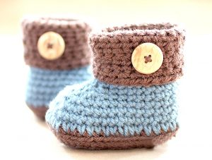 Cuffed Baby Booties