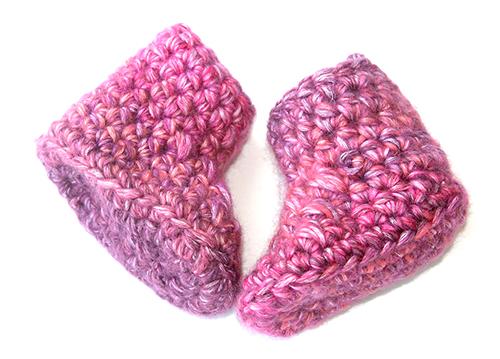 Delila Crochet Baby Booties