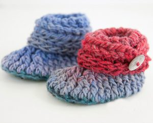 Ups and Downs Crochet Baby Booties