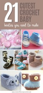 The Cutest Crochet Baby Booties You Need To Make - We picked all of the best patterns for #crochetbabybooties and put them in one place. #crochetpattern #crochetbooties #babycrochet #crochetlove