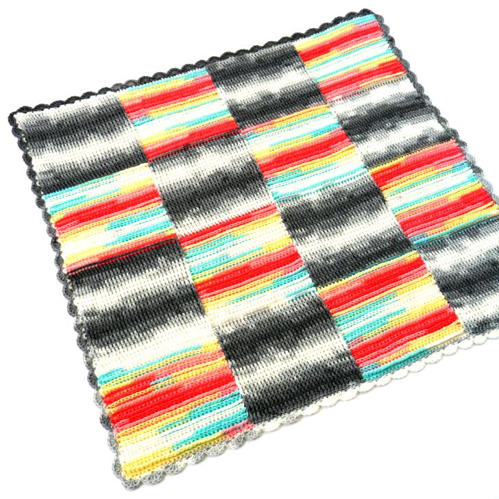 Basketweave Blocks Baby Crochet Blanket