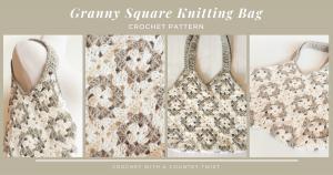 The Granny Square Bag is a stylish bag with a vintage flair. #crochetbag #grannysquare #crochetlove #crochetaddict