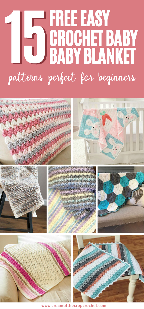 03c99998e 15 Free Easy Crochet Baby Blanket Patterns Perfect For Beginners ...