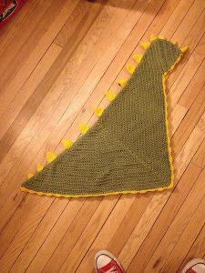 Dino Baby Hooded Crochet Blanket