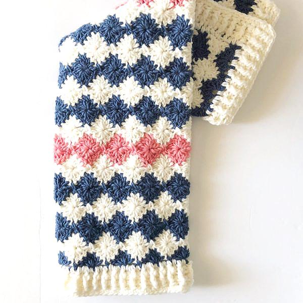 Harlequin Baby Crochet Blanket