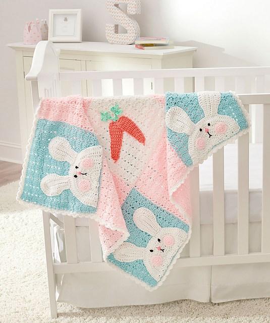 Luv My Bunny Crochet Blanket