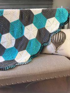 Modern Hexagon Baby Crochet Blanket