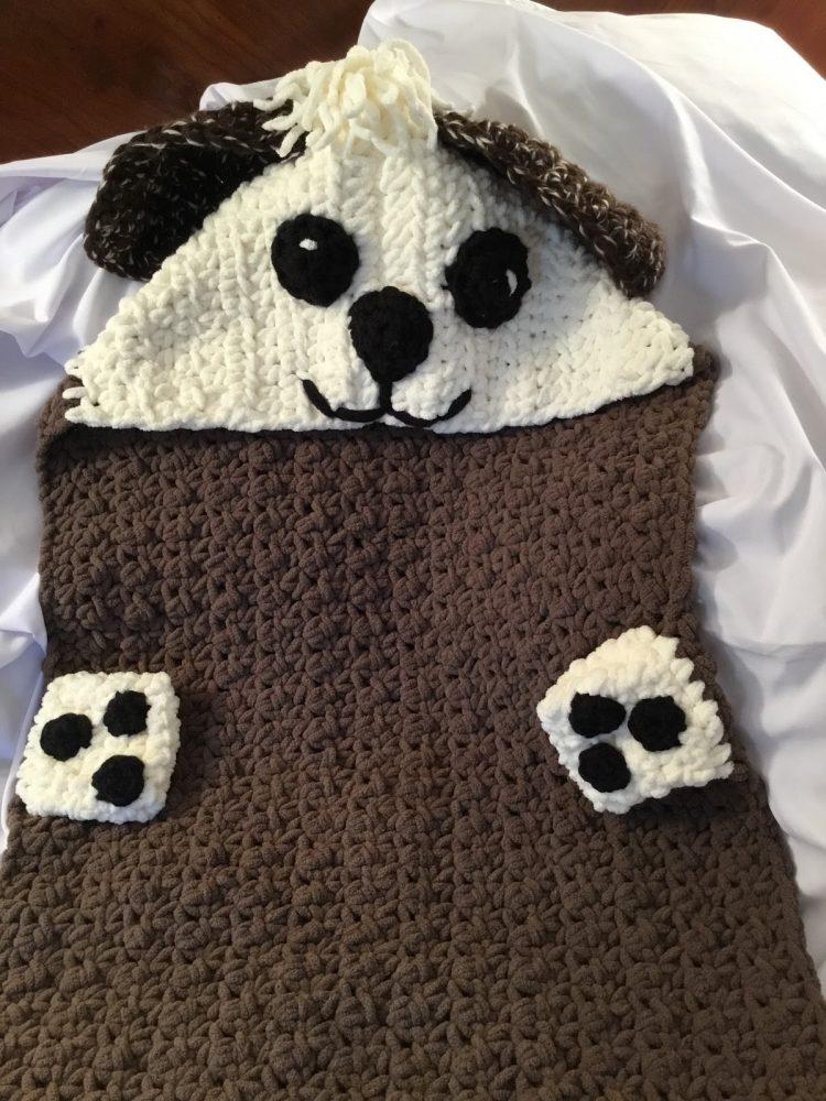 Puppy Baby Crochet Blanket
