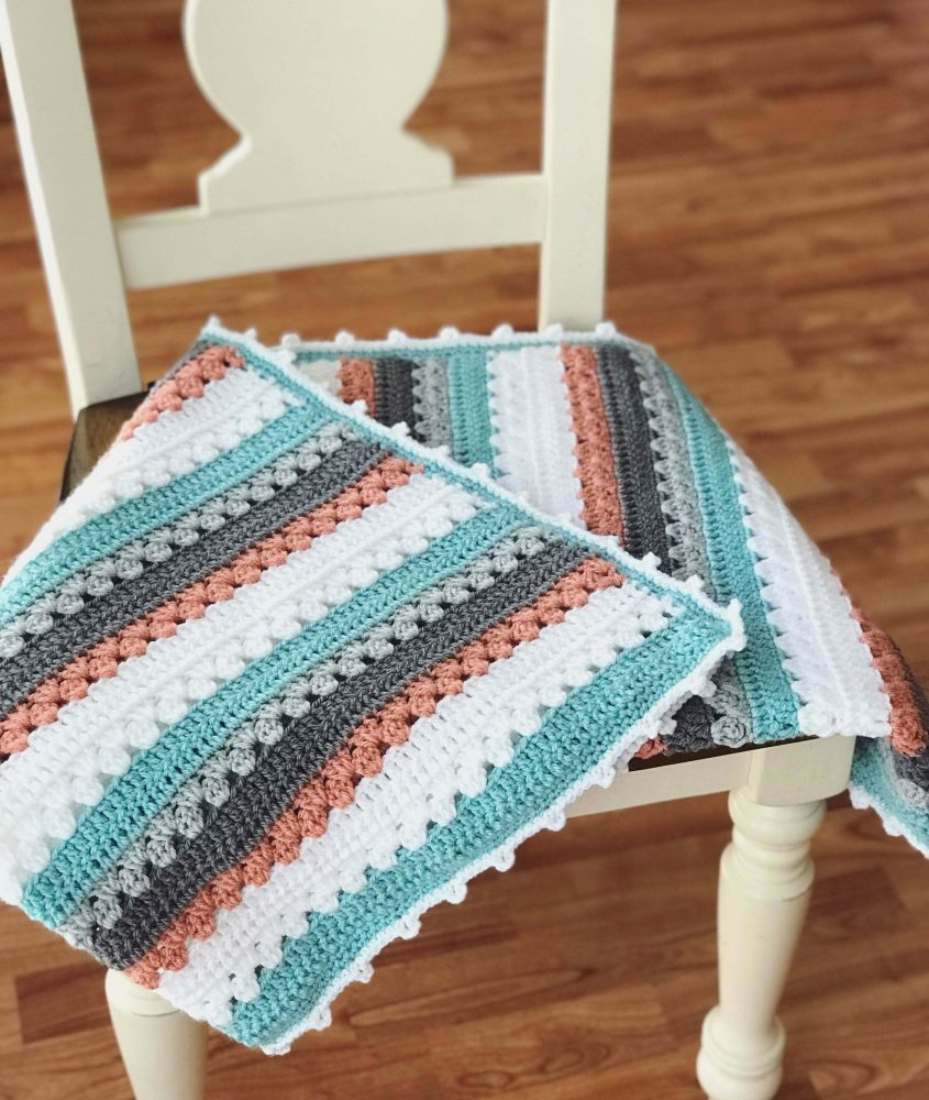 Quick and Simple Striped Baby Crochet Blanket