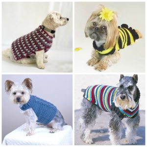 12 Crochet Dog Sweater Patterns For Your Fur Babies - Keep your little nugget warm and cozy in these simple, sweet, and fun sweater patterns. #crochetpatterns #crochetdogsweater #crochetpetprojects #crochetlove #crochetaddict
