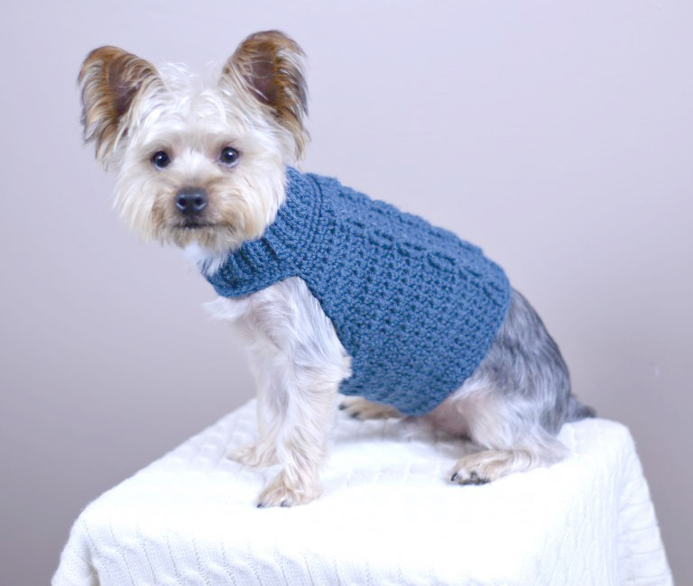 Cabled Dog Sweater Crochet Pattern