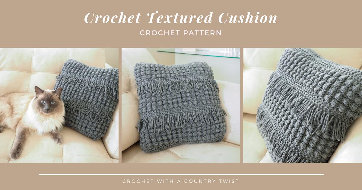 Crochet Textured Cushion Pattern Cream Of The Crop Crochet