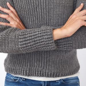 Roll Neck Sweater Crochet Pattern